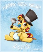 Sunset Shimmer New Year by JcosNeverExisted