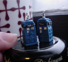 TARDIS Earrings by Sevvie
