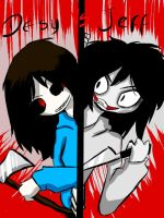 Desy the killer vs JEff the killer by Desy017