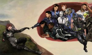 Creation of Jane Shepard by Sorceress-Nadira