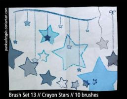 Brush Set 13 - Crayon Stars by punksafetypin