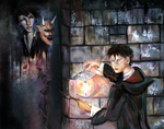 Tom Riddle's Ghost. (Harry and Tom portrait) by smallsmiles