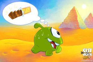 Om Nom in the Desert by Maksim2d