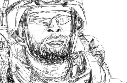 Soldier sketch by Wacov