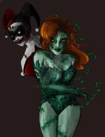 Dark Knight-Harley-PoisonIvy by Lily-pily