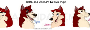 Balto-and-Jenna-Grown-Pups by Coloran