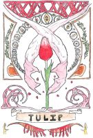Art Nouveau Tulip by Goats-On-A-Boat