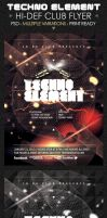 Techno Elements Concert and Party Flyers by ShermanJackson