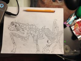 Spider-Giraffe: Work in Progress as of 4/25/2014 by otusasio451