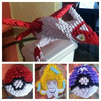 3D Origami Pokemon Collection by Camelliawolf