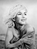 Marilyn on Santa Monica Beach by stars-art