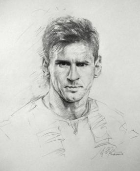 Lionel Messi Sketch by SongDuong