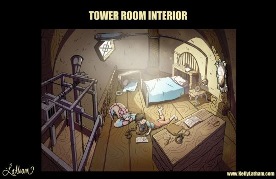 Tower Room in Roots and Runes Magic House by SleepyHeadKL