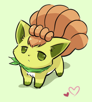 Shiny Vulpix by Hitsume87