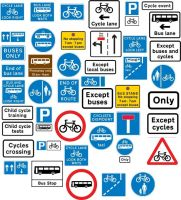 Traffic Signs 1 Bus and Cycle by diondeville