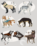 Fantasy Wolves (CHECK LINK) by Pred-Adopts