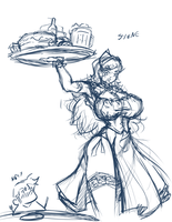 Synne Waitress by N647