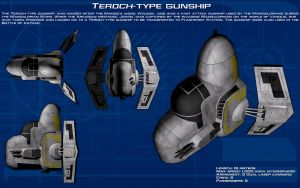 Teroch-type gunship ortho [New] by unusualsuspex