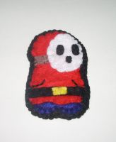Shy Guy Felt Brooch by kiddomerriweather