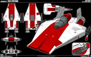 A-Wing Fighter by cosedimarco