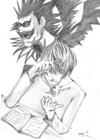 Death Note- Light and Ryuk by XxMandyChanxX