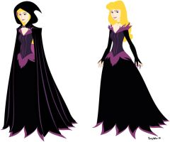 Maleficent dress for Aurora by BunnyHallow