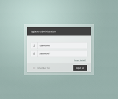 admin panel login page - minimalistic by skaars-cz
