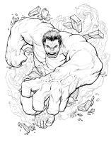 RAMPAGING HULK by jerkmonger