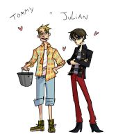 Tommy and Julian by pinappleapple