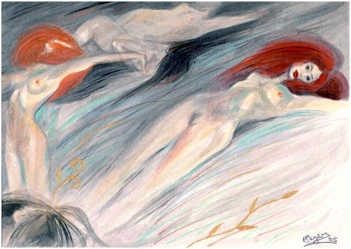 Klimt Water Nymphs by maxine