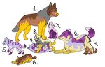 wolf family adoptables by fungirly16