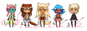 Kemonomimi/Anthro Adopts [OPEN] by Ruruuni