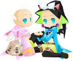Rin and Len Base 1 by Artist903