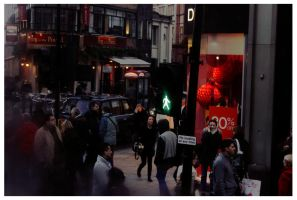 London street from a bus by moodyline