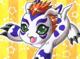 KAKAO CARD Gomamon by LuckyAngelausMexx