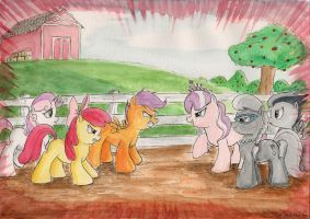 Tension at the Applebarn by SoulEaterSaku90