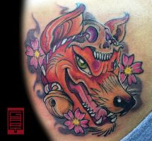 Kitsune Tattoo by AbrahamGart