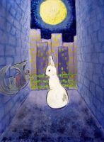 Rabbit in the Back Alley by Selenere