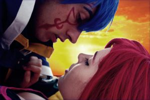 Jellal and Erza kiss by MinatoUchiha4