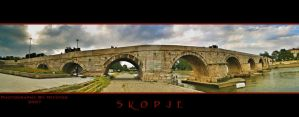 Skopje Stone Brigde Panorama by mitatos