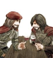 Leonardo and Cesare by Nakamon
