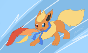 :CM: Genesis the Flareon by furriKira