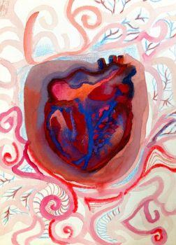 Psychedelic Heart by flightofthesnowgoose