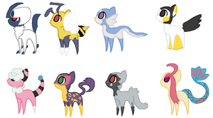 Ponymon Adopts! :CLOSED: by TheRealRiiver