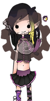 Elf Adoptable Girl with Blinking icon CLOSED by SteampunkedInkling