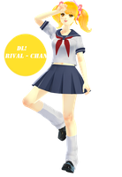 ||MMD|| Rival ~ chan (BETA)   DOWNLOAD by x-MomoJuice-x