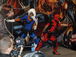 Taskmaster and Deadpool by nx20