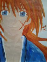 close up of kenshin by Twisted462