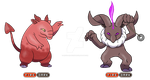 Drowzee and Hypno Variations by monsterpocket