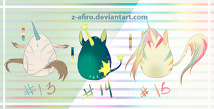 [Adoptables] Auction Unicorns Eggs 2 [Closed] by Z-afiro